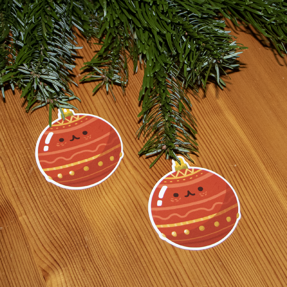 Christmas ball stickers